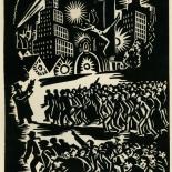 1939_masereel_noir_blanc_4.25x6.25_pl11_dlw, Du Noir au Blanc PL11, Frans Masereel, Masereel, 1939, Woodcut, Gallery East, Gallery East Network