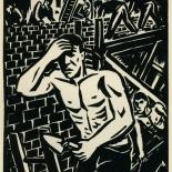 1939_masereel_noir_blanc_4.25x6.25_pl15_dlw, Du Noir au Blanc PL15, Frans Masereel, Masereel, 1939, Woodcut, Gallery East, Gallery East Network