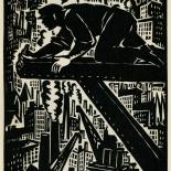 1939_masereel_noir_blanc_4.25x6.25_pl16_dlw, Du Noir au Blanc PL16, Frans Masereel, Masereel, 1939, Woodcut, Gallery East, Gallery East Network