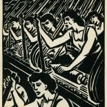 1939_masereel_noir_blanc_4.25x6.25_pl20_dlw, Du Noir au Blanc PL20, Frans Masereel, Masereel, 1939, Woodcut, Gallery East, Gallery East Network