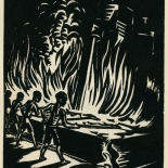 1939_masereel_noir_blanc_4.25x6.25_pl21_dlw, Du Noir au Blanc PL21, Frans Masereel, Masereel, 1939, Woodcut, Gallery East, Gallery East Network