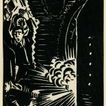 1939_masereel_noir_blanc_4.25x6.25_pl23_dlw, Du Noir au Blanc PL23, Frans Masereel, Masereel, 1939, Woodcut, Gallery East, Gallery East Network