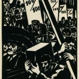 1939_masereel_noir_blanc_4.25x6.25_pl25_dlw, Du Noir au Blanc PL25, Frans Masereel, Masereel, 1939, Woodcut, Gallery East, Gallery East Network