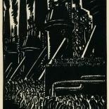 1939_masereel_noir_blanc_4.25x6.25_pl27_dlw, Du Noir au Blanc PL27, Frans Masereel, Masereel, 1939, Woodcut, Gallery East, Gallery East Network