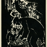1939_masereel_noir_blanc_4.25x6.25_pl32_dlw, Du Noir au Blanc PL32, Frans Masereel, Masereel, 1939, Woodcut, Gallery East, Gallery East Network