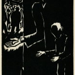 1939_masereel_noir_blanc_4.25x6.25_pl35_dlw, Du Noir au Blanc PL35, Frans Masereel, Masereel, 1939, Woodcut, Gallery East, Gallery East Network