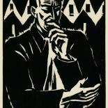 1939_masereel_noir_blanc_4.25x6.25_pl37_dlw, Du Noir au Blanc PL37, Frans Masereel, Masereel, 1939, Woodcut, Gallery East, Gallery East Network