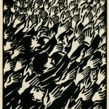 1939_masereel_noir_blanc_4.25x6.25_pl39_dlw, Du Noir au Blanc PL39, Frans Masereel, Masereel, 1939, Woodcut, Gallery East, Gallery East Network