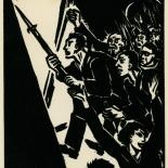 1939_masereel_noir_blanc_4.25x6.25_pl43_dlw, Du Noir au Blanc PL43, Frans Masereel, Masereel, 1939, Woodcut, Gallery East, Gallery East Network
