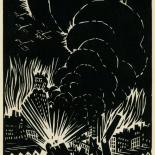 1939_masereel_noir_blanc_4.25x6.25_pl44_dlw, Du Noir au Blanc PL44, Frans Masereel, Masereel, 1939, Woodcut, Gallery East, Gallery East Network