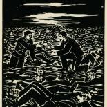 1939_masereel_noir_blanc_4.25x6.25_pl45_dlw, Du Noir au Blanc PL45, Frans Masereel, Masereel, 1939, Woodcut, Gallery East, Gallery East Network