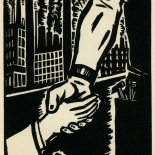 1939_masereel_noir_blanc_4.25x6.25_pl48_dlw, Du Noir au Blanc PL48, Frans Masereel, Masereel, 1939, Woodcut, Gallery East, Gallery East Network