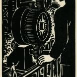 1939_masereel_noir_blanc_4.25x6.25_pl49_dlw, Du Noir au Blanc PL49, Frans Masereel, Masereel, 1939, Woodcut, Gallery East, Gallery East Network