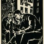 1939_masereel_noir_blanc_4.25x6.25_pl50_dlw, Du Noir au Blanc PL50, Frans Masereel, Masereel, 1939, Woodcut, Gallery East, Gallery East Network