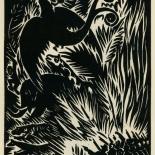 1939_masereel_noir_blanc_4.25x6.25_pl07_dlw, Du Noir au Blanc PL7, Frans Masereel, Masereel, 1939, Woodcut, Gallery East, Gallery East Network