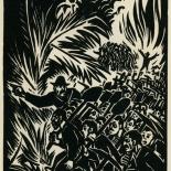 1939_masereel_noir_blanc_4.25x6.25_pl08_dlw, Du Noir au Blanc PL8, Frans Masereel, Masereel, 1939, Woodcut, Gallery East, Gallery East Network