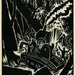 1939_masereel_noir_blanc_4.25x6.25_pl09_dlw, Du Noir au Blanc PL9, Frans Masereel, Masereel, 1939, Woodcut, Gallery East, Gallery East Network