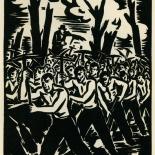 1939_masereel_noir_blanc_4.25x6.25_pl12_dlw, Du Noir au Blanc PL12, Frans Masereel, Masereel, 1939, Woodcut, Gallery East, Gallery East Network