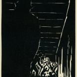 1939_masereel_noir_blanc_4.25x6.25_pl13_dlw, Du Noir au Blanc PL13, Frans Masereel, Masereel, 1939, Woodcut, Gallery East, Gallery East Network