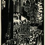 1939_masereel_noir_blanc_4.25x6.25_pl14_dlw, Du Noir au Blanc PL14, Frans Masereel, Masereel, 1939, Woodcut, Gallery East, Gallery East Network