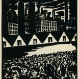 1939_masereel_noir_blanc_4.25x6.25_pl17_dlw, Du Noir au Blanc PL17, Frans Masereel, Masereel, 1939, Woodcut, Gallery East, Gallery East Network