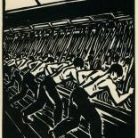 1939_masereel_noir_blanc_4.25x6.25_pl19_dlw, Du Noir au Blanc PL19, Frans Masereel, Masereel, 1939, Woodcut, Gallery East, Gallery East Network