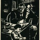 1939_masereel_noir_blanc_4.25x6.25_pl22_dlw, Du Noir au Blanc PL22, Frans Masereel, Masereel, 1939, Woodcut, Gallery East, Gallery East Network