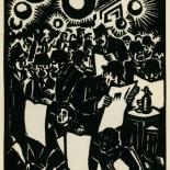 1939_masereel_noir_blanc_4.25x6.25_pl26_dlw, Du Noir au Blanc PL26, Frans Masereel, Masereel, 1939, Woodcut, Gallery East, Gallery East Network