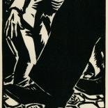 1939_masereel_noir_blanc_4.25x6.25_pl28_dlw, Du Noir au Blanc PL28, Frans Masereel, Masereel, 1939, Woodcut, Gallery East, Gallery East Network