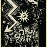 1939_masereel_noir_blanc_4.25x6.25_pl29_dlw, Du Noir au Blanc PL29, Frans Masereel, Masereel, 1939, Woodcut, Gallery East, Gallery East Network