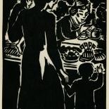 1939_masereel_noir_blanc_4.25x6.25_pl30_dlw, Du Noir au Blanc PL30, Frans Masereel, Masereel, 1939, Woodcut, Gallery East, Gallery East Network