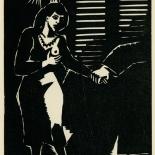 1939_masereel_noir_blanc_4.25x6.25_pl31_dlw, Du Noir au Blanc PL31, Frans Masereel, Masereel, 1939, Woodcut, Gallery East, Gallery East Network