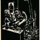 1939_masereel_noir_blanc_4.25x6.25_pl33_dlw, Du Noir au Blanc PL33, Frans Masereel, Masereel, 1939, Woodcut, Gallery East, Gallery East Network