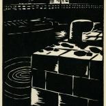 1939_masereel_noir_blanc_4.25x6.25_pl36_dlw, Du Noir au Blanc PL36, Frans Masereel, Masereel, 1939, Woodcut, Gallery East, Gallery East Network