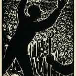 1939_masereel_noir_blanc_4.25x6.25_pl38_dlw, Du Noir au Blanc PL38, Frans Masereel, Masereel, 1939, Woodcut, Gallery East, Gallery East Network