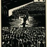 1939_masereel_noir_blanc_4.25x6.25_pl40_dlw, Du Noir au Blanc PL40, Frans Masereel, Masereel, 1939, Woodcut, Gallery East, Gallery East Network