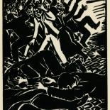 1939_masereel_noir_blanc_4.25x6.25_pl41_dlw, Du Noir au Blanc PL41, Frans Masereel, Masereel, 1939, Woodcut, Gallery East, Gallery East Network