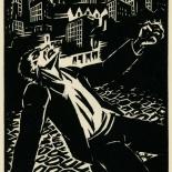 1939_masereel_noir_blanc_4.25x6.25_pl42_dlw, Du Noir au Blanc PL42, Frans Masereel, Masereel, 1939, Woodcut, Gallery East, Gallery East Network