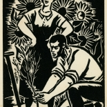 1939_masereel_noir_blanc_4.25x6.25_pl51_dlw, Du Noir au Blanc PL51, Frans Masereel, Masereel, 1939, Woodcut, Gallery East, Gallery East Network