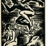 1939_masereel_noir_blanc_4.25x6.25_pl54_dlw, Du Noir au Blanc PL54, Frans Masereel, Masereel, 1939, Woodcut, Gallery East, Gallery East Network