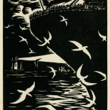1939_masereel_noir_blanc_4.25x6.25_pl55_dlw, Du Noir au Blanc PL55, Frans Masereel, Masereel, 1939, Woodcut, Gallery East, Gallery East Network