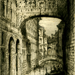 brewer_james_alphege010w, Venice (The Bridge of Sighs), Alphege Brewer, 1920, etchings, British Artist, Early 20th Century, Venice, Italy, Gallery East, Brewer, Gallery East Network