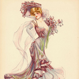 28_1907_knickerbocker_stumm_maud_w, Knickerbocker, Maud Stumm, 1907, Lithograph, Gallery East, Stumm, Gallery East Network