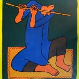 37_1976_rutman_flute_player_w, Robert Rutman, Flute Player, 1976, Lithographs, Gallery East, Rutman, Gallery East Network