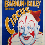 07_Classic Clown, Classic Clown, Ringling Bros, 1935, Lithographs, Gallery East, Ringling, Gallery East Network