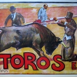 10_llopis_toros_1950_01w, Ruano Llopis, 1950, Lithographs, Gallery East, Llopis, Gallery East Network