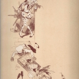 22_programmes_illustrees_clowne_w, 22_programmes_illustrees_clowne_w, Printemps dessin de Jules Cheret, Jules Cheret, 1866, Lithographs, Gallery East, Cheret, Gallery East Network