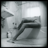 kw_zabarsky_1980_w, Nude on Bathtub, Photographs, Kalman Zabarsky , Gallery East, Zabarsky, Gallery East Network