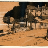 1905_patten_wilson_4.25x8_dlw, Pin Mill, Patten Wilson, 1905, Woodcuts. Gallery East, Gallery East Network