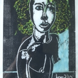 alford_suzanne.jpg, Suzanne, Al Ford, 1990, Woodcut Print. Gallery East, Ford, Gallery East Network
